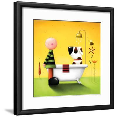 Bathtime-Jo Parry-Framed Premium Giclee Print