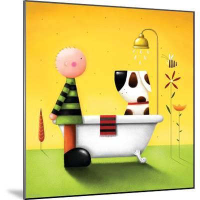 Bathtime-Jo Parry-Mounted Premium Giclee Print