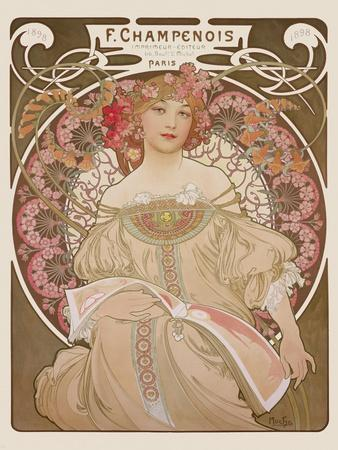 Reverie, c.1897-Alphonse Mucha-Premium Giclee Print