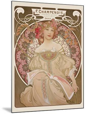 Reverie, c.1897-Alphonse Mucha-Mounted Premium Giclee Print