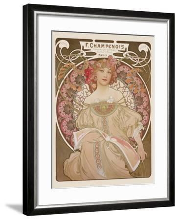 Reverie, c.1897-Alphonse Mucha-Framed Premium Giclee Print