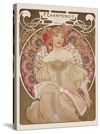 Reverie, c.1897-Alphonse Mucha-Stretched Canvas Print