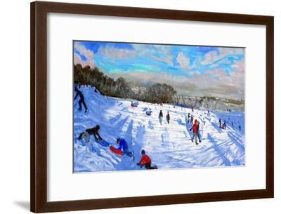 Snow Flurries, Allestree Park, Derby-Andrew Macara-Framed Premium Giclee Print