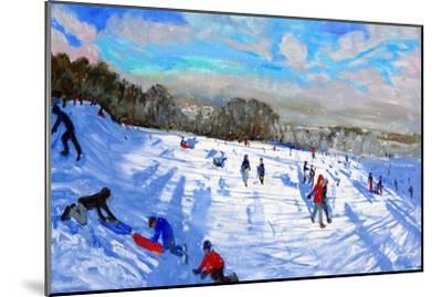 Snow Flurries, Allestree Park, Derby-Andrew Macara-Mounted Premium Giclee Print