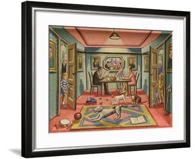 En Famille, 2015-PJ Crook-Framed Giclee Print