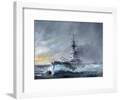 HMS Iron Duke, 'Equal Speed Charlie London' Jutland 1916, 2015-Vincent Alexander Booth-Framed Giclee Print