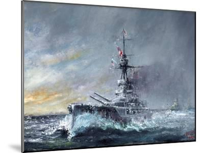 HMS Iron Duke, 'Equal Speed Charlie London' Jutland 1916, 2015-Vincent Alexander Booth-Mounted Giclee Print
