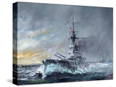 HMS Iron Duke, 'Equal Speed Charlie London' Jutland 1916, 2015-Vincent Alexander Booth-Stretched Canvas Print