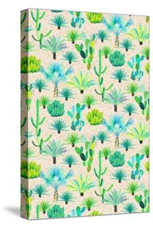 Les Jardins Majorelle - Cacti-Jacqueline Colley-Stretched Canvas Print