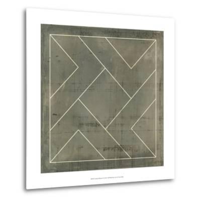 Geometric Blueprint VI--Metal Print