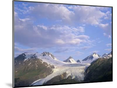 Worthington Glacier and Chugach Mountains, Thompson Pass Near Valdez, Alaska, USA-Adam Jones-Mounted Premium Photographic Print