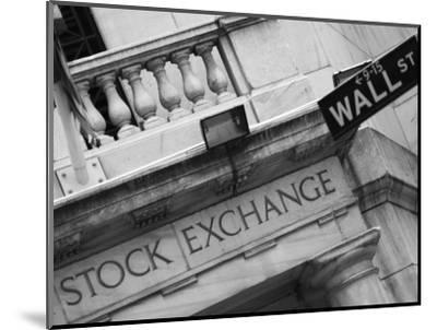 New York Stock Exchange, Wall Street, Manhattan, New York City, New York, USA-Amanda Hall-Mounted Photographic Print