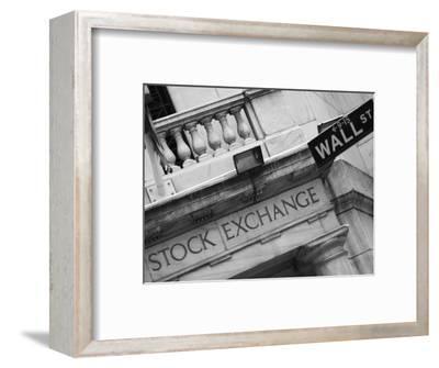 New York Stock Exchange, Wall Street, Manhattan, New York City, New York, USA-Amanda Hall-Framed Photographic Print