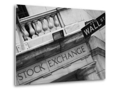 New York Stock Exchange, Wall Street, Manhattan, New York City, New York, USA-Amanda Hall-Metal Print