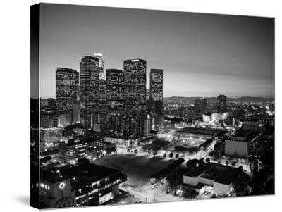 California, Los Angeles, Skyline of Downtown Los Angeles, USA-Michele Falzone-Stretched Canvas Print