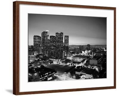California, Los Angeles, Skyline of Downtown Los Angeles, USA-Michele Falzone-Framed Photographic Print