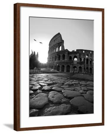 Colosseum and Via Sacra, Sunrise, Rome, Italy-Michele Falzone-Framed Photographic Print