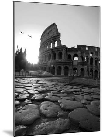 Colosseum and Via Sacra, Sunrise, Rome, Italy-Michele Falzone-Mounted Photographic Print