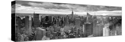 Manhattan View Towards Empire State Building at Sunset from Top of the Rock, at Rockefeller Plaza, -Gavin Hellier-Stretched Canvas Print