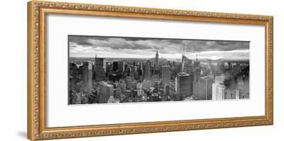 Manhattan View Towards Empire State Building at Sunset from Top of the Rock, at Rockefeller Plaza, -Gavin Hellier-Framed Photographic Print