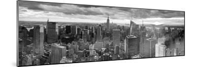 Manhattan View Towards Empire State Building at Sunset from Top of the Rock, at Rockefeller Plaza, -Gavin Hellier-Mounted Photographic Print