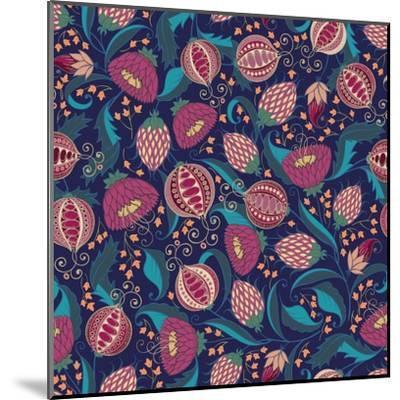 Pomegranate Pattern-Jallom-Mounted Art Print