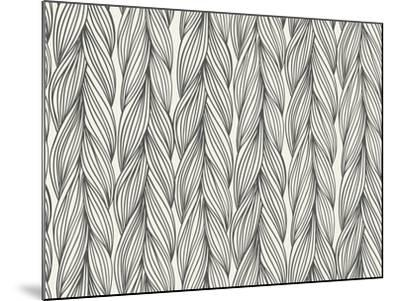 Seamless Pattern Imitation with Braids-tukkki-Mounted Art Print