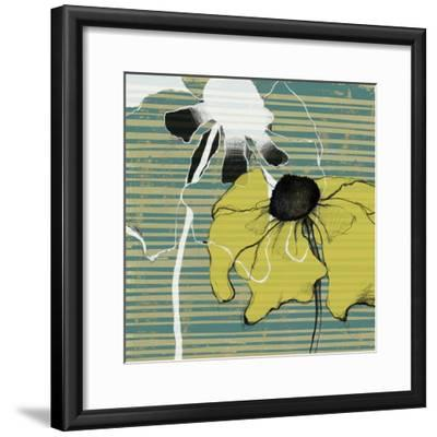 Layered Poppies II-Jennifer Goldberger-Framed Art Print