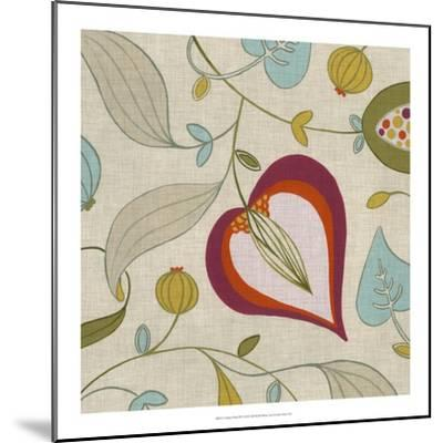 Cabana Floral III-Erica J^ Vess-Mounted Art Print