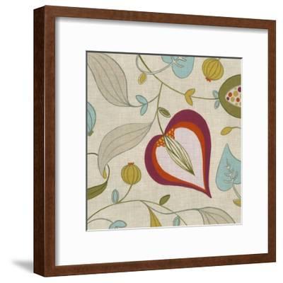 Cabana Floral III-Erica J^ Vess-Framed Art Print
