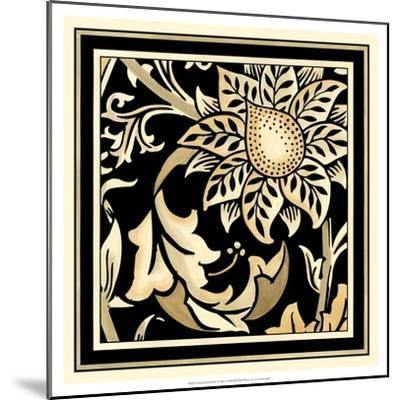 Neutral Floral Motif II-Vision Studio-Mounted Art Print