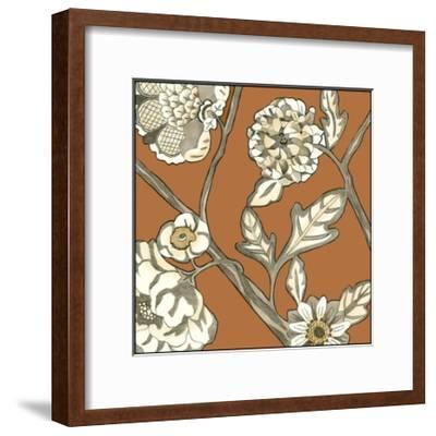 Butterscotch Chintz IV-Chariklia Zarris-Framed Art Print