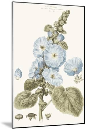 Bashful Blue Florals IV-John Miller-Mounted Art Print