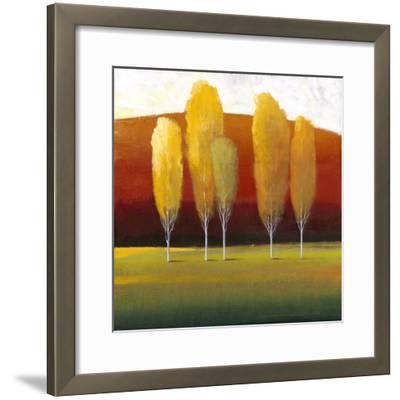 Glowing Trees II-Tim O'toole-Framed Art Print