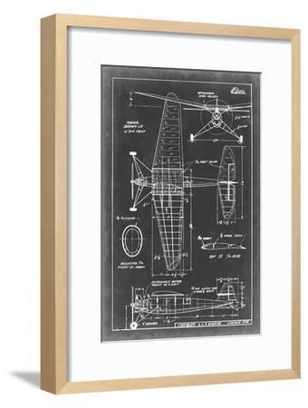 Aeronautic Blueprint IV-Vision Studio-Framed Art Print