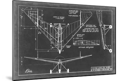 Aeronautic Blueprint V-Vision Studio-Mounted Art Print