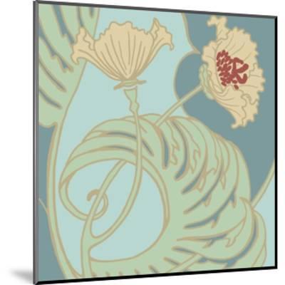 Poppy Flourish II-Jennifer Goldberger-Mounted Art Print