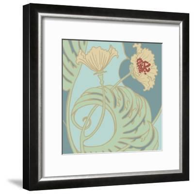 Poppy Flourish II-Jennifer Goldberger-Framed Art Print