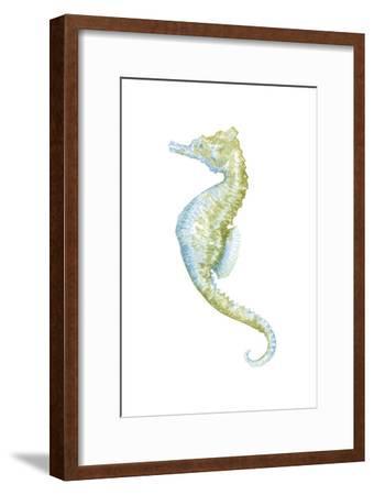 Watercolor Seahorse II-Megan Meagher-Framed Art Print