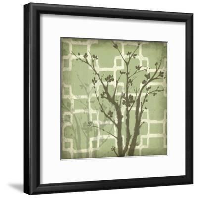 Silhouette and Pattern III-Jennifer Goldberger-Framed Art Print