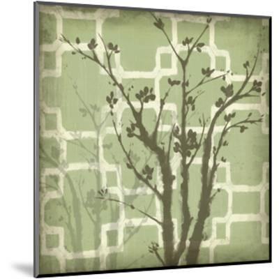 Silhouette and Pattern III-Jennifer Goldberger-Mounted Art Print
