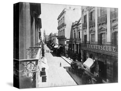Buenos Aires Streetscene--Stretched Canvas Print