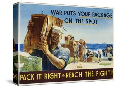 Pack it Right to Reach the Fight! Poster-John Falter-Stretched Canvas Print