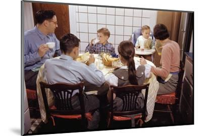 Family Eating Together at Dinner Table-William P^ Gottlieb-Mounted Premium Photographic Print
