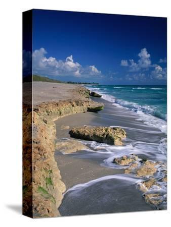 Beach on Jupiter Island-James Randklev-Stretched Canvas Print