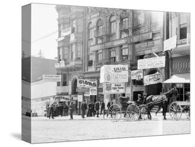 Businesses on Fillmore Street--Stretched Canvas Print