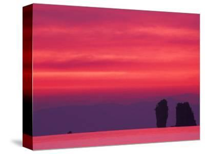 Pink Sky Reflected in Sea With Karst Islands, Phang Nga Bay, Thailand-John & Lisa Merrill-Stretched Canvas Print