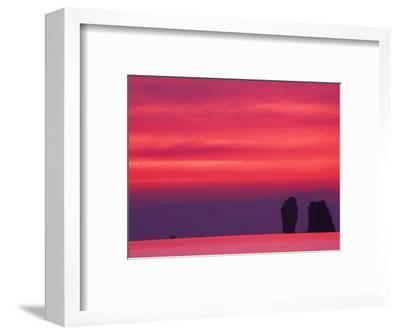 Pink Sky Reflected in Sea With Karst Islands, Phang Nga Bay, Thailand-John & Lisa Merrill-Framed Photographic Print