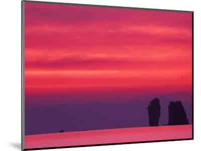 Pink Sky Reflected in Sea With Karst Islands, Phang Nga Bay, Thailand-John & Lisa Merrill-Mounted Photographic Print