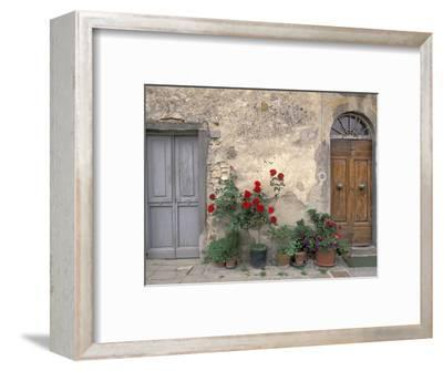 Tuscan Doorway in Castellina in Chianti, Italy-Walter Bibikow-Framed Photographic Print
